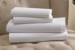 1 king white hotel flat sheets t200 percale 108x110 high qua