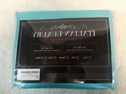 Italian Luxury 100% 300tc California King Sheet Set in Aqua