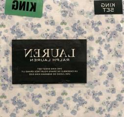 Ralph Lauren 100% Cotton 4PC Blue/Green/white Print Floral S