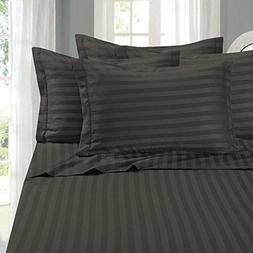 Real Cotton Collection 100% Cotton 600TC 4 PC Stripe Bed She