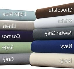 Brielle Home® 100% Cotton Jersey Knit  Sheet Set