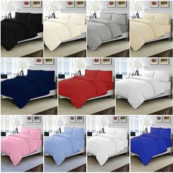 100% EGYPTIAN COTTON DUVET QUILT COVER SET SINGLE DOUBLE KIN