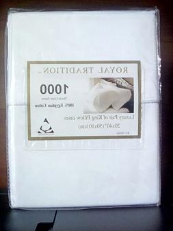 Royal Tradition ~ 100% Egyptian Cotton King Pillowcases ~ 10