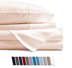 Mayfair Linen 100% Egyptian Cotton Sheets, Ivory King Sheets