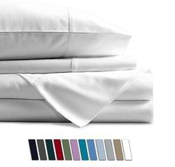 Mayfair Linen 100% Egyptian Cotton Sheets, White California