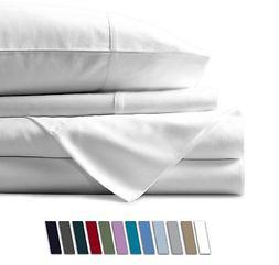 Mayfair Linen 100% EGYPTIAN COTTON Sheets, WHITE KING Sheets