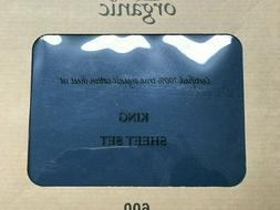 100% Organic Cotton 4pcs  Bed Sheet Set 600 TC Turquoise Kin