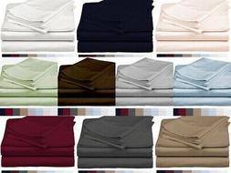 100% Pima Cotton LUXURIOUS Bedding Set Queen King All Size E