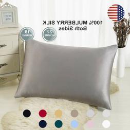 100% Pure Mulberry Zipper Silk Pillowcase 19 Momme  Silk pil