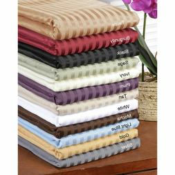 1000 TC Egyptian Cotton Deep Pocket 1 PC Fitted Sheet US Kin