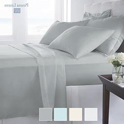 Pizuna 1000 Thread Count Sheets California King, 100% Long S