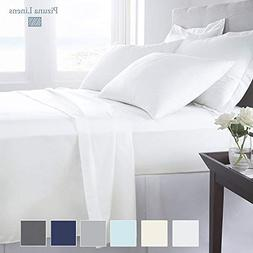 Pizuna 1000 Thread Count Best Cotton King Size Sheets, 100%