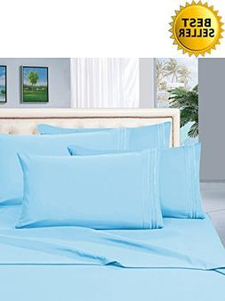1200 Thread Count KING Size 4pc Egyptian Bed Sheet Set, Deep