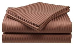 Millenium Linen King Size Bed Sheet Set - Coffee - 1600 Seri