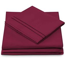 Cosy House Collection King Size Bed Sheets - Fuchsia Luxury