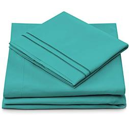 Cosy House Collection King Size Bed Sheets - Turquoise Luxur