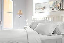 1500 Series Split King Bed sheet set White