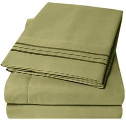 1500 Supreme Collection Extra Soft King Sheets Set, Sage - L