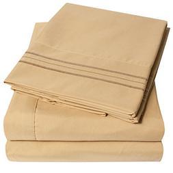 1500 Supreme Collection Extra Soft King Sheets Set, Camel -