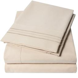 1500 Supreme Collection Extra Soft King Sheets Set, Beige -