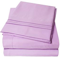 1500 Supreme Collection Extra Soft King Sheets Set, Lilac -