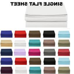 1500 thread count single flat sheet top