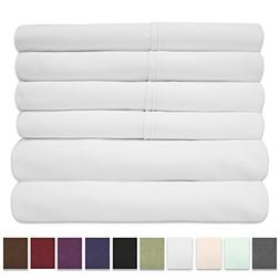 Cal King Size Bed Sheets - 6 Piece 1500 Thread Count Fine Br