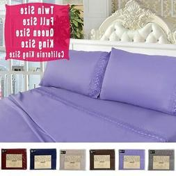 1600 count 4 piece bed sheet set