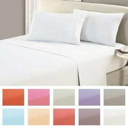 Mellanni Flat Sheet 1800 Collection - Wrinkle, Fade, Stain R