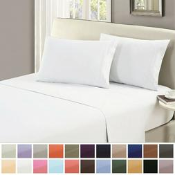 Mellanni Flat Sheet 1800 Collection Soft Microfiber - Solid