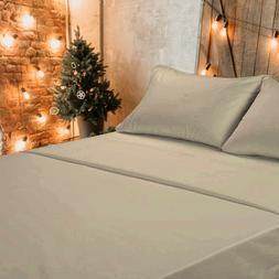 🥇1800 Count 4 Piece Deep Pocket Soft Bed Sheet Set Clara