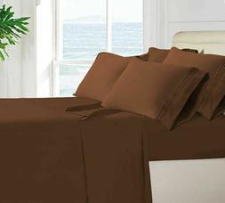 Egyptian Comfort 1800 Count 6 Piece Bed Sheet Set Luxury Dee