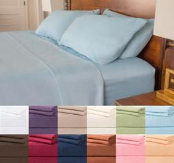 Egyptian Elegance Sheet Set 1800 Premium Comfort 4 Piece Dee