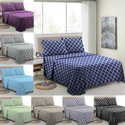 Egyptian Comfort Bed Sheet Set 1800 Series 4 Piece Deep Pock