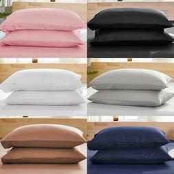 1800 Pillow Case Standard King Queen Ultra Soft Pillowcase L