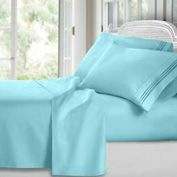 clara clark 1800 premier series 4pc bed sheet set - king, li