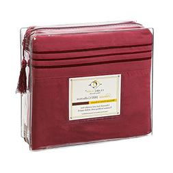 Clara Clark 1800 Premier Series 4pc Bed Sheet Set - King, Bu