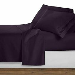 Clara Clark 1800 Premier Series 4pc Bed Sheet Set - King, Pu