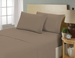 HC Collection 1800 Series Luxury 4pc Bed Sheets Set, Highest