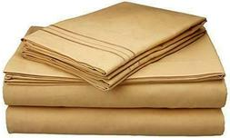 Sweet Home Collection 1800 Thread Egyptian Count 4p Taupe Sh