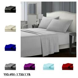 Egyptian Comfort 1900 Count 4 Piece Bed Sheet Set Extra Deep