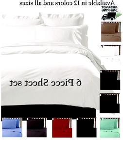 6 PIECE LUXURY 2100 HOTEL SERIES DEEP POCKET BED SOFT SHEET