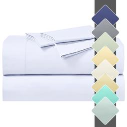 22 Inches Extra Deep Pockets Sheet Set Cotton Percale Crispy