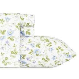 Laura Ashley 220487 Spring Bloom Wildflower Sheet Set, King,