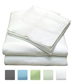 300 Thread Count 100% Cotton Sheet Set, Soft Sateen Weave, K