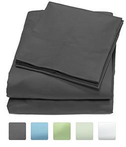 300 Thread Count 100% Cotton Sheet Set, Soft Sateen Weave, K