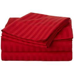 300 Thread Count Egyptian Cotton Stripe Sheet Set Size: King