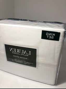 Ralph Lauren 300TC Dunham Sateen White King Sheet Set