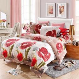 3d Bedding Set With Duvet Quilt Cover Pillowcase Bed Sheet Q