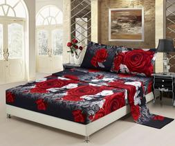 HIG 3D Sheet set 4 Pieces Red And White Rose Promise Reactiv